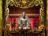 Chu Văn An (1292–1370, born Chu An) was a Confucian, teacher, physician and high-ranking mandarin of the Trần Dynasty in Đại Việt.<br/><br/>  The Temple of Literature or Van Mieu is one of Vietnam's foremost cultural treasures. Founded in 1070 by King Ly Thanh Tong of the Early Ly Dynasty, the temple was originally dedicated both to Confucius and to Chu Cong, a member of the Chinese royal family credited with originating many of the teachings that Confucius developed five hundred years later. The site was selected by Ly Dynasty geomancers to stand in harmony with the Taoist Bich Cau temple and the Buddhist One Pillar Pagoda, representing the three major fonts of Vietnamese tradition.<br/><br/>  Six years later, in 1076, the Quoc Tu Giam, or 'School for the Sons of the Nation', was established at the same location when King Ly Nhan Tong (1072-1127) established Vietnam's first university. The tradition of Confucian education flourished at the Temple of Literature, with the custom of offering a cloak to successful candidates beginning in 1374, whilst in 1484 the first stele bearing the names of doctoral graduates was erected.